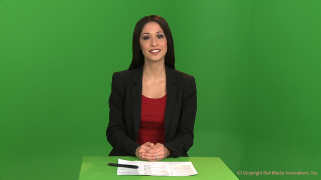 Green screen before post production