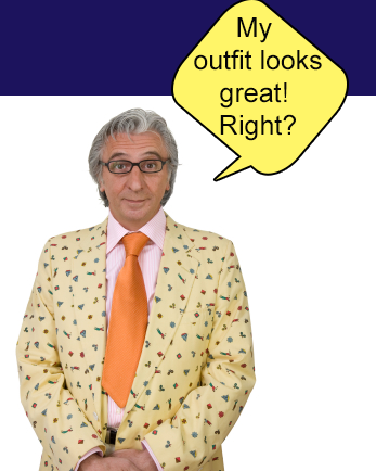 Wardrobe tips for video production - actor looking silly in Miami Florida