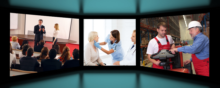 Training video production screens in Miami Florida
