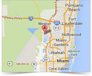 South Florida Miami Fort Lauderdale map for Ball Media