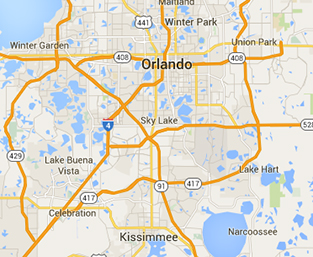 Orlando map for Ball Media