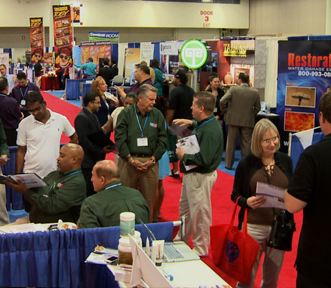 Trade Show being videotaped by Miami Video Production Company