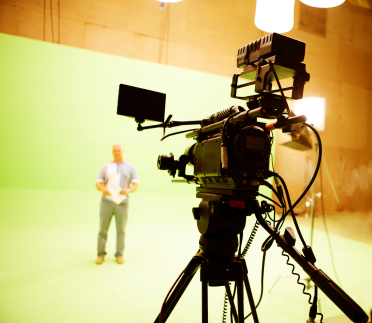 Green screen studio shoot video production in Miami Florida
