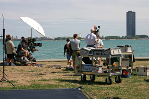 Miami video production services taping on beach