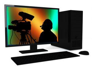 website computer screen for web videos