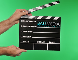 south florida video production company ball media clapper