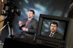employee as video production spokesperson
