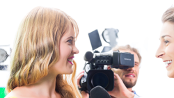 Interviews on camera Miami video production company