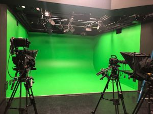 Green screen corporate studio design and build consulting services