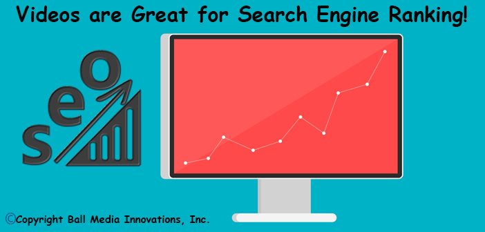 Videos are great for search engine ranking - SEO