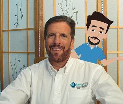 Greg Ball President of BMI with his animated double