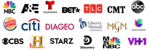 Logos for dubbing and subtitles company services