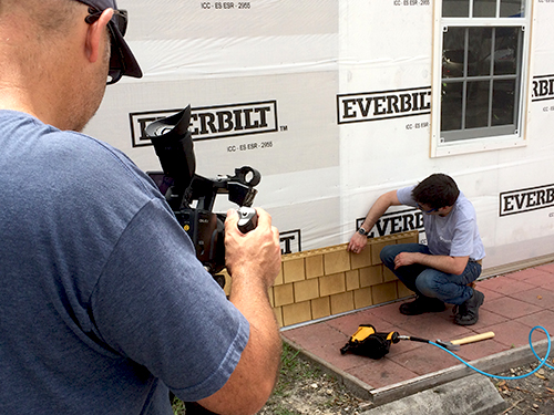 video production shoot for a manufacturing company