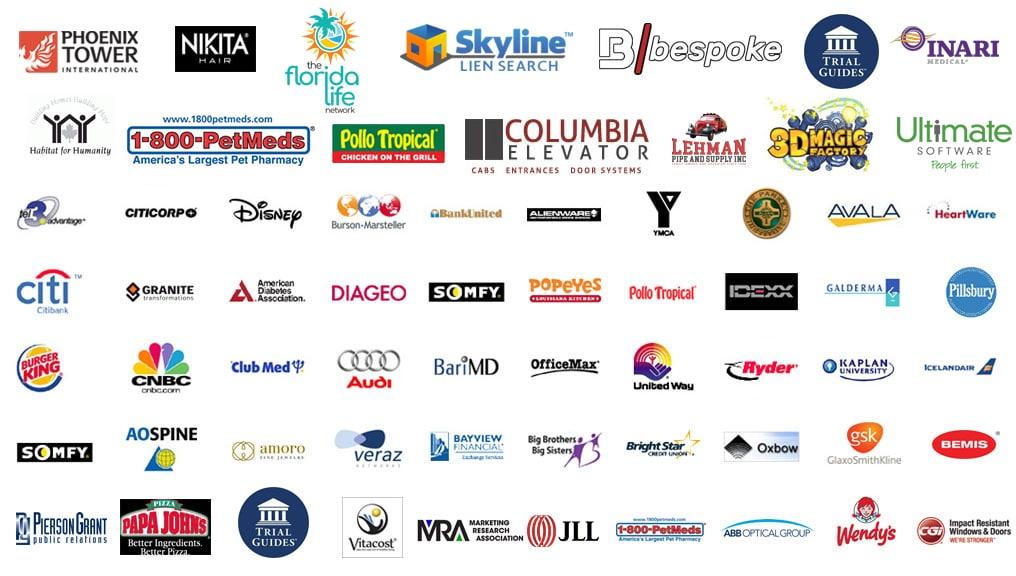 SOUTH FLORIDA video production services logos